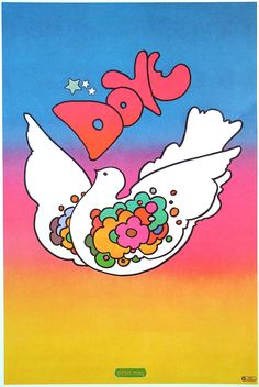 Peter Max 1968 Many many hours spent making Peter Max inspired doves and drawings for my friends as a teen!