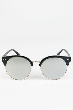 516642dcf62 Road Ahead Reflective Sunglasses - Black Silver