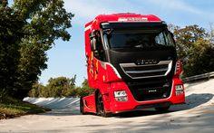 Download imagens Iveco Stralis 570XP, caminhões, pista de rolamento, Scuderia Ferrari, emocional caminhão
