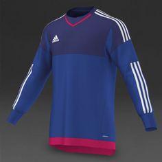 eaca7c5164c Adidas Men Football Goalkeeper Jersey Adizero Soccer Top Blue S17939 Sz S  (3)