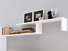 mensole moderne : Mensole-moderne-componibili-vari-colori-bianco-o-nero-80x20