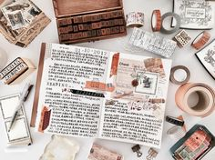 一直都很喜欢棕色系的搭配 马来西亚没有秋天 可是我的手帐风格变成秋款了 阅读是写作的来源的确不假 看了杂志就有写手帐的冲动了