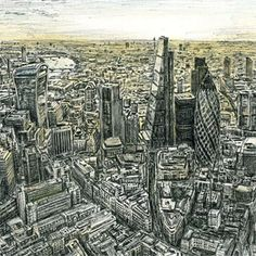 Back in the City - Stephen Wiltshire, savant artist - unbelievable talent.