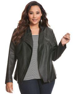 Draped moto jacket by Lane Bryant | Lane Bryant   Yesss! beautiful! I just one of these!!!