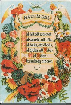 A house blessing (Hungarian)