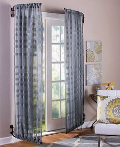 Bronze curtains Rods - Swing Arm Adjustable Curtain Rods Extends 23 37 Set of 2 Bronze or Black. Swing Arm Curtain Rods, Finials For Curtain Rods, Drapery Rods, Farmhouse Curtain Rods, Farmhouse Curtains, French Door Curtains, Drapes Curtains, Curtain Door, Burlap Curtains