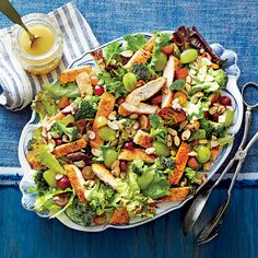 Dixie Chicken Salad with Grapes, Honey, Almonds, and Broccoli | MyRecipes Substitute Rotisserie chicken?