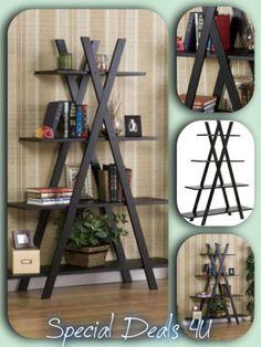 Bookcase-4-Shelf-Bookshelf-Furniture-Storage-Shelves-Wood-Shelving-Home-Display