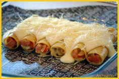 Cannelonis knacki/champignons/moutarde