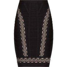 Herve Leger Lainie Crochet Jacquard Cutouts Skirt ($252) ❤ liked on Polyvore featuring skirts, jacquard skirt, herve leger skirt, hervé léger, panel skirt and crochet skirt