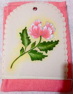 Flor durazno porta toalla