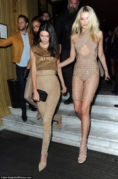 Kendall Jenner coodinates with Balmain pals for after party #dailymail