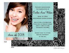 Graduation Party Invitations ~ photo teal