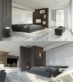 Sleek Bedrooms with Cool, Clean Lines