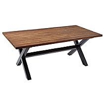 CANVAS Tribeca Teak Patio Table will add a touch of style to your outdoor dinning experience Made of FSC certified reclaimed oil teak top with aluminum legs Outdoor Rooms, Outdoor Living, Outdoor Furniture, Teak Table, Dining Bench, Patio Lanterns, Table Teck, Cottage Furniture, Canadian Tire