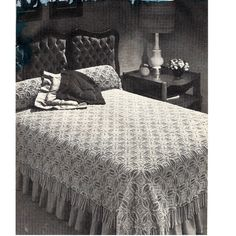 Crocheted Bedspread Pattern, Lancaster A-109