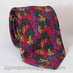 Hermes Silk Tie in Grape Leaf Motif 7406 PA #etsy #gifts