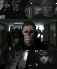 Tate from American Horror Story is a realistic character because he struggles with depression and mental issues where many teens do as well.