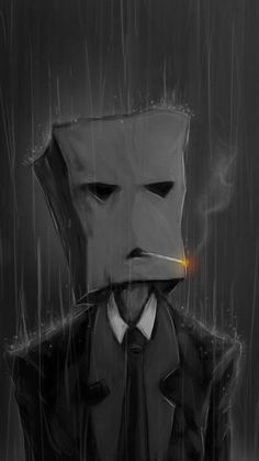 Smoking with a paper bag in the rain Funny mobile wallpaper Ps Wallpaper, Black Wallpaper, Amazing Wallpaper Iphone, Mobile Wallpaper, Smoke Wallpaper, Marshmello Wallpapers, Arte Obscura, Dark Art Drawings, Creepy Art