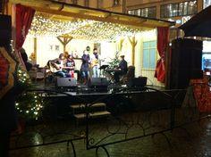 Girl band performing at Christmas market