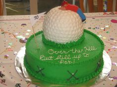 Golf Over the hill cake — Birthday Cakes 40th Cake, 40th Birthday Cakes, Birthday Ideas, Celebration City, Birthday Celebration, Over The Hill Cakes, Daddy Birthday, Cake Central, Cakes For Men