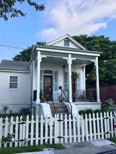 Sweet cottage. Nice picket fence. Holy Cross, a lower Ninth Ward. New Orleans architecture.