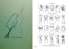 FREE DOWNLOAD Practical Dress Design by Mabel D. Erwin. 1950's fashion sewing draping pattern book.