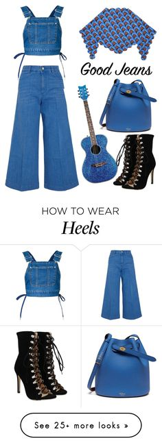 """""""G.V.G.V. denim dungaree top"""" by thestyleartisan on Polyvore featuring G.V.G.V., STELLA McCARTNEY, Mulberry, J.W. Anderson and alldenim"""