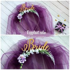 Bride To Be Headband Eggplant Bride To Be Headband Bachelorette Party Headband Bridal Shower Headband Bridal Shower Gift