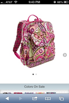 6a15beeb2612 My baby 😘 Vera Bradley Backpack