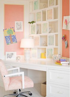Kids Bedroom Decor. Kids Decor Ideas. Kids Built-in Desk. #BuiltinDesk #KidsDecor #KidsInteriorIdeas  Alice Black Interiors.