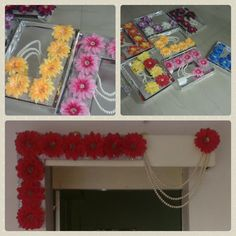 Door hangings  With wooden base and artificial flowers.Decorated with sequence  lace and pearls.