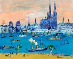 Jean Dufy - Cologne, oil on canvas