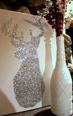 Christmas Decor DIY // Bright Sparkly Reindeer