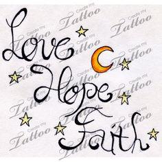 Marketplace Tattoo Love, Hope, Faith #9295 | CreateMyTattoo.com