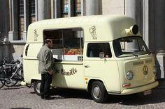 VW Kombi Icecream truck in Brugge, Belgium. How retro!!