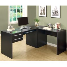 @Overstock.com - Cappuccino Hollow-Core Computer Desk - Upgrade your business office with this L-shaped computer desk. This desk features a thick panel construction and a beautiful cappuccino-colored finish. Large enough to accommodate standard office supplies, this desk will help you keep organized. http://www.overstock.com/Home-Garden/Cappuccino-Hollow-Core-Computer-Desk/7344267/product.html?CID=214117 $165.99