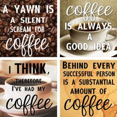 Handmade coffee coasters with true statements. #coffee #quotes #CoffeeTime