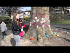 The Wishing Thread round a tree - a good idea for Tree Love Week
