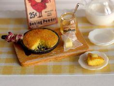 Miniature Southern Style Cornbread Set by CuteinMiniature on Etsy, $26.00