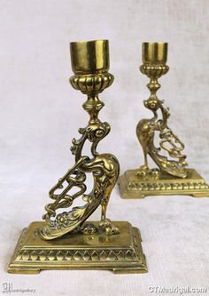 Candlestick Holders, Candlesticks, Snake Dragon, Bronze, Antique Paint, Hanging Wall Art, Antique Items, Etsy Store, Wax