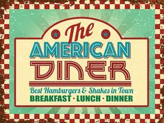 The American Diner 10093 retro metal wall sign