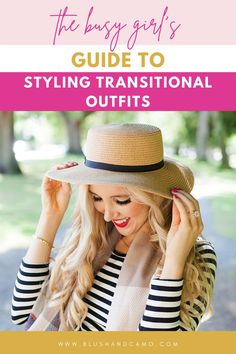 """We've all been here. At the start of a new season and you look at your closet and think, """"I have nothing to wear!"""" But that is not true! You have 2 whole seasons to choose from! Today I'm going to share with you the busy girl's guide to styling transitional outfits with one MAJOR styling tip! Let's elevate your style! #stylingtips #transitionalstyle #fashioninspo"""