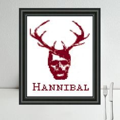Hannibal free cross stitch pattern: http://www.sundownstitcher.co.uk/#!patterns-tvshows/c1ay5 #crossstitch #xstitch #handmade #hannibal #geekery  #pattern #freebie