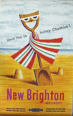 Kelly new brighton British railways poster spade 1955