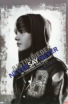 A great poster for Justin Bieber's 2011 concert film (in 3-D!) Never Say Never! Ships fast. Fully licensed. 22x34 inches.