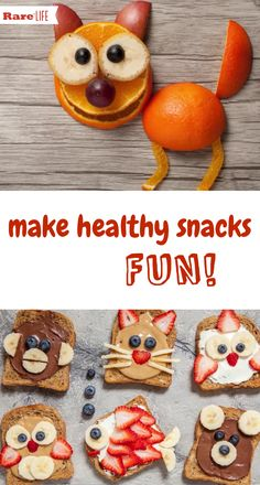You don't have to be an artist to create these adorable healthy snacks! Great for picky eaters!