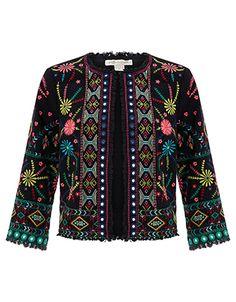 Resultado de imagen para embroidered jacket