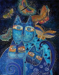 Indigo cats.  One of Laurel Burch's best.