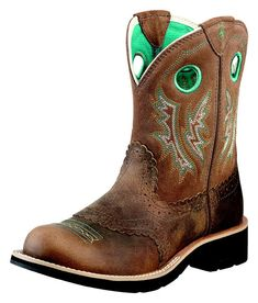 fat baby boots | Ladies Ariat Fat Baby Cowboy Boot Powder Brown Ladies Western Boots ...